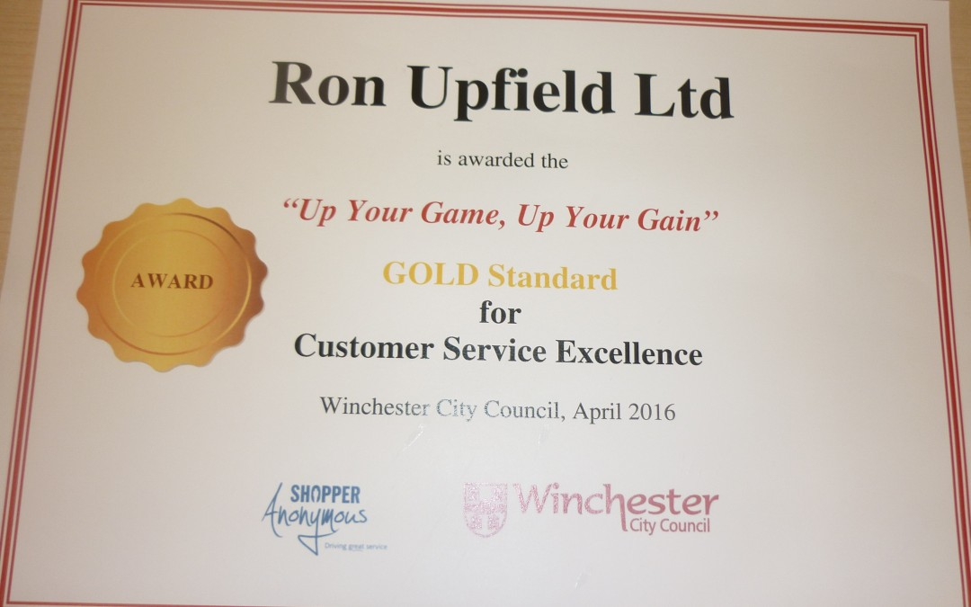 Gold Award for Excellence in Customer Service